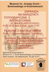 plakat warsztaty foto