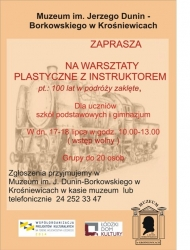 plakat warsztaty plastyczne