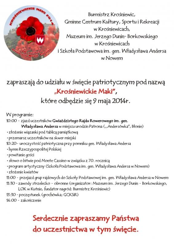 KrosniewickieMaki2014plakat