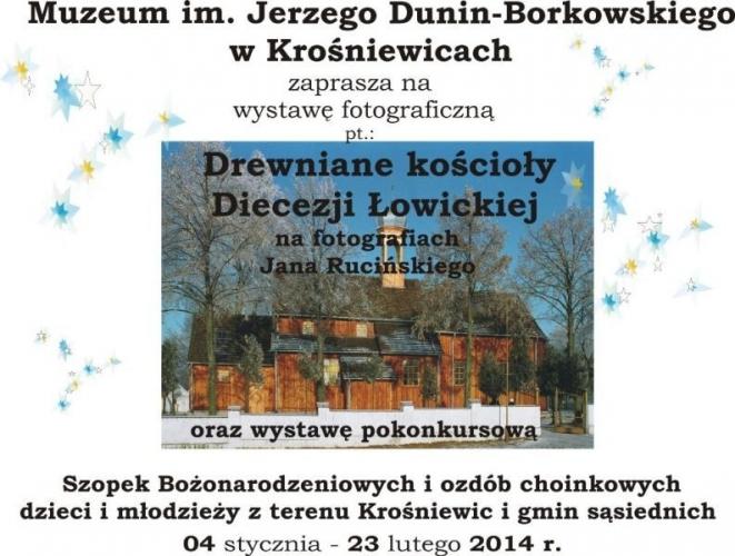 plakat koscioly drewniane diecezji lowickiej